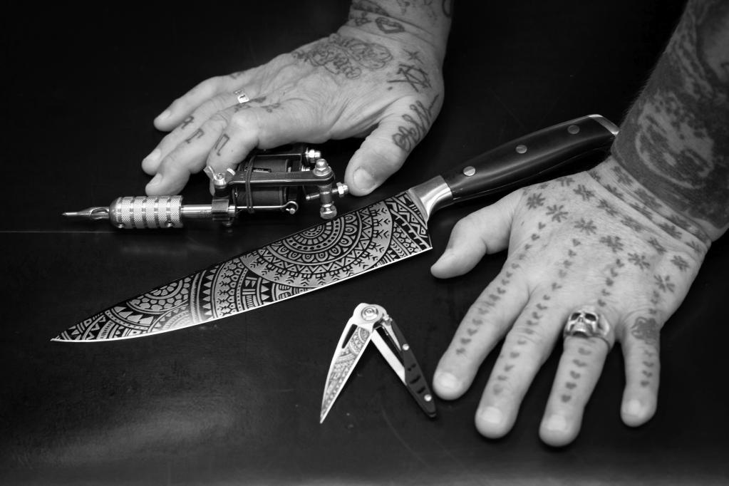 Over de samenwerking van Diamant Sabatier met Henk Schifmacher - Close up ChefsMate, Chefs Knife and Tatoo Machine